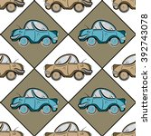 retro seamless pattern with... | Shutterstock .eps vector #392743078