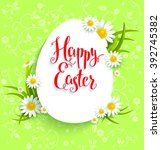 positive easter card and... | Shutterstock .eps vector #392745382
