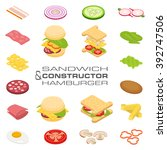 set vector constructor... | Shutterstock .eps vector #392747506