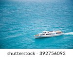 ship floating on the black sea | Shutterstock . vector #392756092