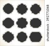 blank frame set isolated on... | Shutterstock .eps vector #392771068