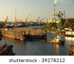 towing dock at shipyard gdansk  ... | Shutterstock . vector #39278212