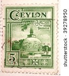 ceylon   circa 1957  a stamp... | Shutterstock . vector #39278950