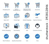 e commerce icons set 2   blue... | Shutterstock .eps vector #392812846