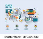 one page data analytics web... | Shutterstock .eps vector #392823532