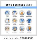 modern flat design linear... | Shutterstock .eps vector #392823805