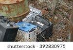Old Car Batteries Thrown Away