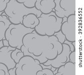 pop art smoke seamless vector... | Shutterstock .eps vector #392836552