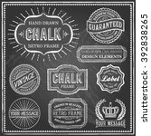 vintage chalkboard frames   set ... | Shutterstock .eps vector #392838265
