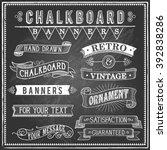 vintage chalkboard banners  ... | Shutterstock .eps vector #392838286
