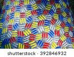 sculpture pattern closeup in... | Shutterstock . vector #392846932