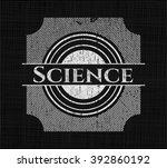 science chalkboard emblem... | Shutterstock .eps vector #392860192