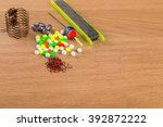 fishing accessories | Shutterstock . vector #392872222