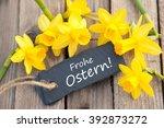 label with german text  happy... | Shutterstock . vector #392873272