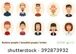 Avatars Business People. Vecto...