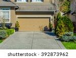 double doors garage. | Shutterstock . vector #392873962