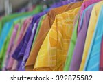 colorful clothes. | Shutterstock . vector #392875582