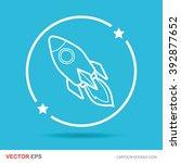 spaceship doodle | Shutterstock .eps vector #392877652
