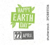 typographic design for earth... | Shutterstock .eps vector #392885536