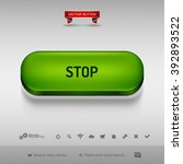 green button for webdesign or... | Shutterstock .eps vector #392893522