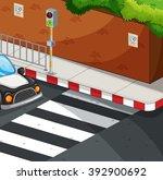 Scene With Zebra Crossing...