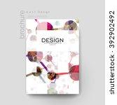dna molecule vector brochure... | Shutterstock .eps vector #392902492