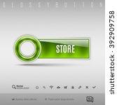 green modern plastic button... | Shutterstock .eps vector #392909758