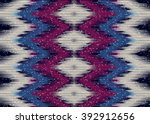 geometric ethnic oriental ikat... | Shutterstock .eps vector #392912656