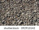 Texture Gray Gravel Big Stones...