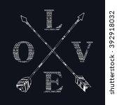 Crossed Arrows Vintage Boho...