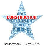 construction. word collage on... | Shutterstock .eps vector #392930776