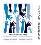 funky hand pattern with copy... | Shutterstock .eps vector #39293713