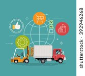 cool delivery service concept... | Shutterstock .eps vector #392946268