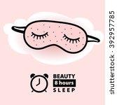 beauty  sleep  mask  for... | Shutterstock .eps vector #392957785