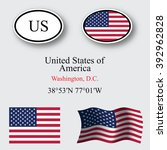 united states of america set... | Shutterstock . vector #392962828