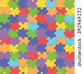 color seamless jigsaw puzzle... | Shutterstock . vector #392969152