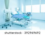 hospital room with beds and... | Shutterstock . vector #392969692