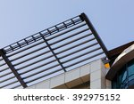 modern building detail with... | Shutterstock . vector #392975152