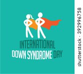 international down syndrome day ... | Shutterstock .eps vector #392996758