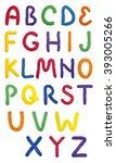 alphabet handmade of modeling... | Shutterstock . vector #393005266