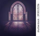 islamic design background... | Shutterstock .eps vector #393015256