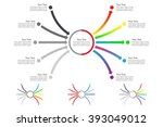 set of horizontal converging... | Shutterstock .eps vector #393049012