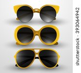 sunglasses vector illustration | Shutterstock .eps vector #393064942