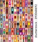 people portrait set   vector... | Shutterstock .eps vector #393068692