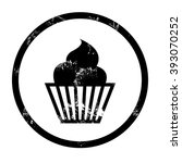 muffin icon | Shutterstock .eps vector #393070252
