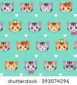 Cats. Cats Seamless Pattern....
