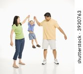 asian mother and father holding ... | Shutterstock . vector #3930763
