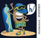 illustration of summer man... | Shutterstock .eps vector #393099805