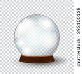 empty snow globe | Shutterstock . vector #393100138