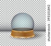 empty snow globe. big white... | Shutterstock . vector #393101842